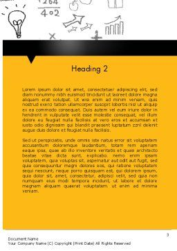 School Girl Word Template Second Inner Page