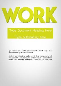 Word WORK Word Template, Cover Page, 11898, Business Concepts — PoweredTemplate.com