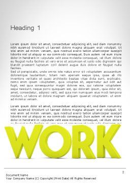 Word WORK Word Template, First Inner Page, 11898, Business Concepts — PoweredTemplate.com