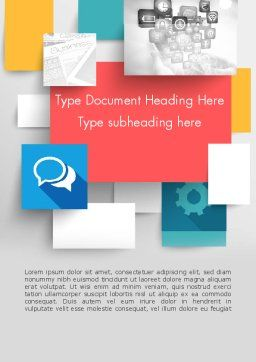 Multilayered Word Template, Cover Page, 11900, Business — PoweredTemplate.com