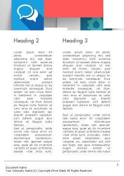 Multilayered Word Template, Second Inner Page, 11900, Business — PoweredTemplate.com