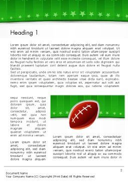 Super Bowl Theme Word Template, First Inner Page, 11908, Sports — PoweredTemplate.com