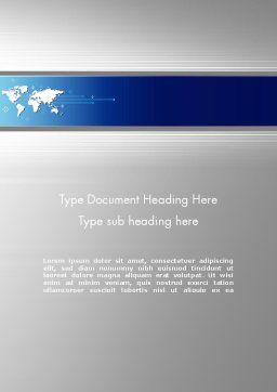 Presentation with World Map Word Template, Cover Page, 11910, Business — PoweredTemplate.com