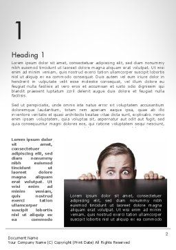 Hiding Woman Word Template, First Inner Page, 11911, People — PoweredTemplate.com