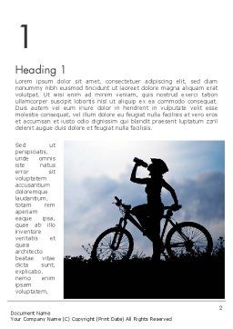 Healthy Habits Word Template, First Inner Page, 11917, Sports — PoweredTemplate.com