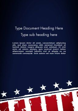 USA Flag Theme Word Template Cover Page