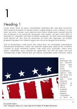 USA Flag Theme Word Template First Inner Page