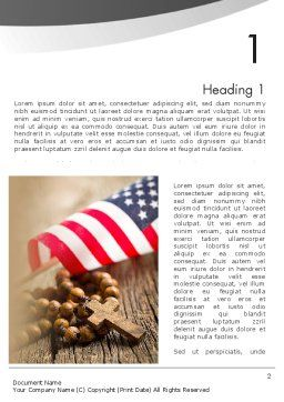 American Christianity Word Template, First Inner Page, 11922, Religious/Spiritual — PoweredTemplate.com