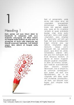 Creative Ideation Word Template, First Inner Page, 11924, Business Concepts — PoweredTemplate.com