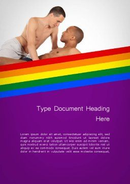 Gay Couple Word Template Cover Page