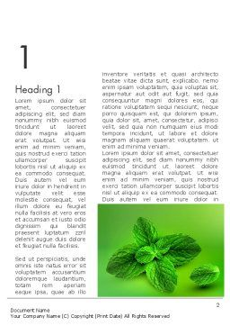 Mint Green Background Word Template, First Inner Page, 11927, Food & Beverage — PoweredTemplate.com
