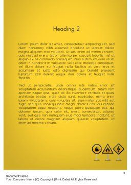 Warning Symbols Word Template Second Inner Page