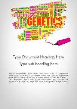 Genetics Word Cloud Word Template, Cover Page, 11933, Technology, Science & Computers — PoweredTemplate.com
