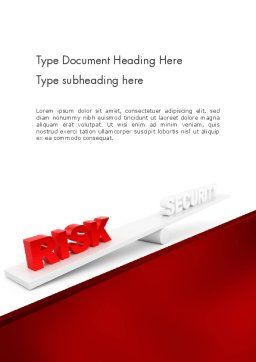 Security Risk Word Template, Cover Page, 11935, Business Concepts — PoweredTemplate.com
