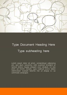 Comments Word Template, Cover Page, 11940, Telecommunication — PoweredTemplate.com