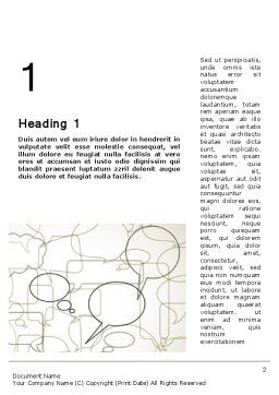 Comments Word Template, First Inner Page, 11940, Telecommunication — PoweredTemplate.com
