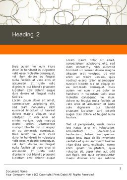 Comments Word Template, Second Inner Page, 11940, Telecommunication — PoweredTemplate.com