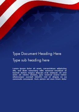 4th July Theme Word Template, Cover Page, 11942, Holiday/Special Occasion — PoweredTemplate.com