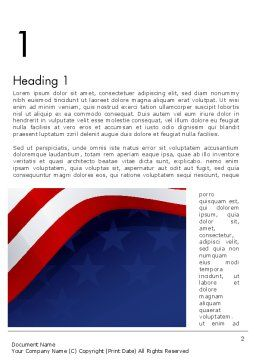 4th July Theme Word Template, First Inner Page, 11942, Holiday/Special Occasion — PoweredTemplate.com