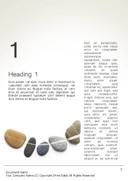 Mindfulness Meditation Word Template, First Inner Page, 11943, Medical — PoweredTemplate.com