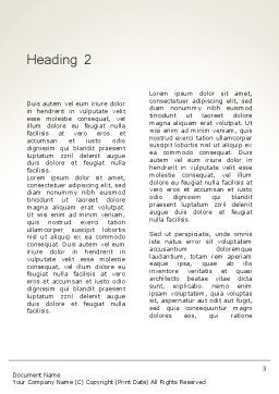 Mindfulness Meditation Word Template, Second Inner Page, 11943, Medical — PoweredTemplate.com
