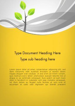 Sapling Word Template Cover Page