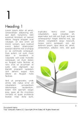 Sapling Word Template First Inner Page
