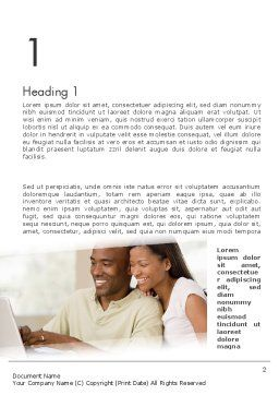 Couple on Laptop Word Template First Inner Page
