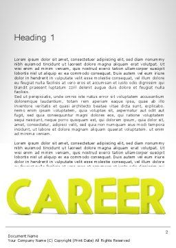 Word CAREER Word Template, First Inner Page, 11947, Careers/Industry — PoweredTemplate.com