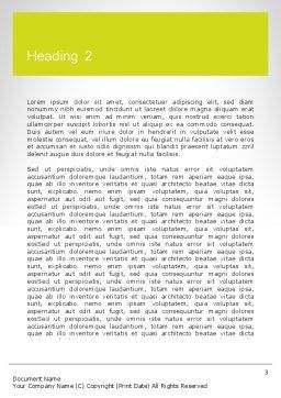 Word CAREER Word Template, Second Inner Page, 11947, Careers/Industry — PoweredTemplate.com