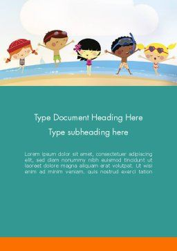 Summer Fun Word Template Cover Page