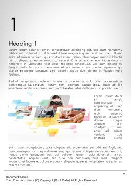 Abstract Business Theme Word Template, First Inner Page, 11955, Business — PoweredTemplate.com