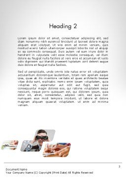 Abstract Business Theme Word Template, Second Inner Page, 11955, Business — PoweredTemplate.com