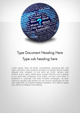 Education Globe Word Template, Cover Page, 11957, Education & Training — PoweredTemplate.com