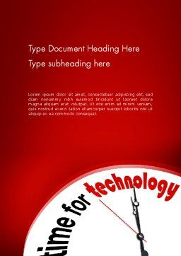 Time for Technology Word Template, Cover Page, 11960, Technology, Science & Computers — PoweredTemplate.com