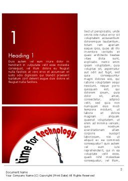 Time for Technology Word Template, First Inner Page, 11960, Technology, Science & Computers — PoweredTemplate.com