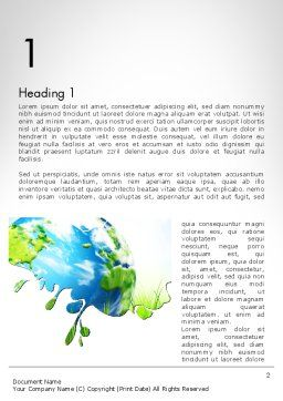 Green World Word Template, First Inner Page, 11961, Global — PoweredTemplate.com