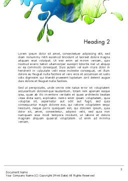Green World Word Template Second Inner Page