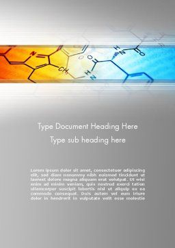 Chemistry Themed Word Template, Cover Page, 11962, Technology, Science & Computers — PoweredTemplate.com