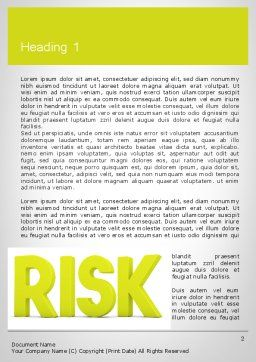 Word RISK Word Template, First Inner Page, 11964, Consulting — PoweredTemplate.com
