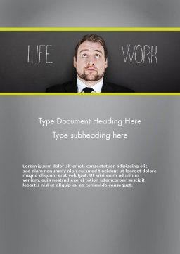 Life Work Balance Word Template, Cover Page, 11967, Careers/Industry — PoweredTemplate.com