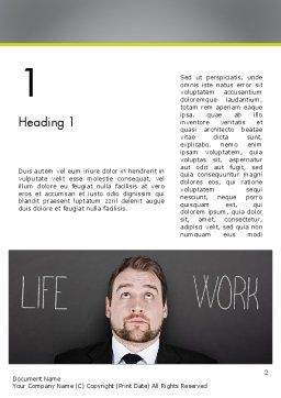 Life Work Balance Word Template First Inner Page