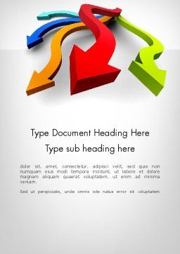Alternative Ways Word Template, Cover Page, 11969, Business Concepts — PoweredTemplate.com