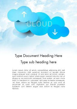 Cloud Technology Concept Word Template, Cover Page, 11977, Technology, Science & Computers — PoweredTemplate.com