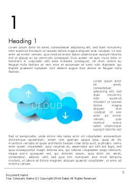 Cloud Technology Concept Word Template, First Inner Page, 11977, Technology, Science & Computers — PoweredTemplate.com