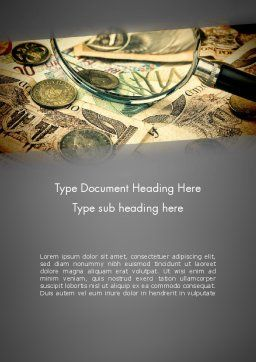 Pile of Old European Money Word Template Cover Page