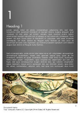 Pile of Old European Money Word Template First Inner Page
