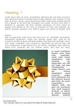 Gold Ribbon Word Template, First Inner Page, 11979, Holiday/Special Occasion — PoweredTemplate.com