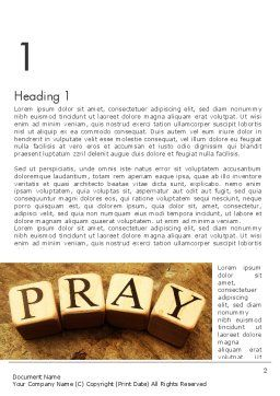 Time to Pray Word Template, First Inner Page, 11984, Religious/Spiritual — PoweredTemplate.com