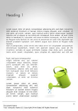Watering Can Pouring Water Word Template, First Inner Page, 11986, Business Concepts — PoweredTemplate.com